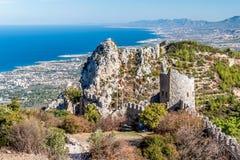 Ruïnes van St Hilarion Castle Kyreniadistrict, Cyprus Stock Foto