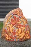 Runestone beim Gelatieren, Dänemark Lizenzfreies Stockbild