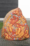 Runestone, i Jelling, Danmark Royaltyfri Bild