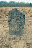 Runestone. With a plain cross Royalty Free Stock Photography