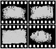 Runge filmstrip. Set  grunge filmstrip frame Stock Photography