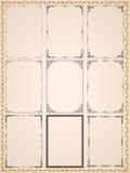Runic винтажные рамки Стоковая Фотография RF