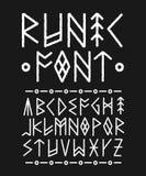 Runic шрифт нарисованный рукой щетка чернил вектора иллюстрация штока