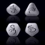 Runic Stones Royalty Free Stock Photography