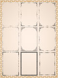 Runic vintage frames. Royalty Free Stock Photography