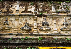 Runied Wall. Ancient and Ruined Wall at Historical Place Stock Photography
