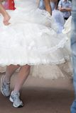 Runing bride Royalty Free Stock Image