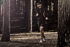 Runing in the forest Royalty Free Stock Photos