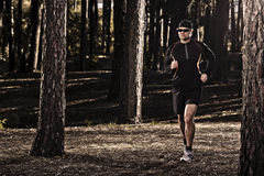 Runing in the forest Royalty Free Stock Image
