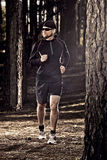 Runing in the forest Stock Image