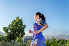 Runing with music Royalty Free Stock Photos