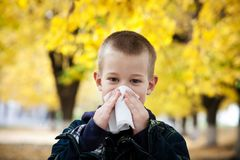 Runing nose royalty free stock photo