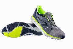 Runing sport shoes isolated on white background.  stock image