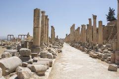 Runis πόλεων Jerash στην Ιορδανία Στοκ εικόνα με δικαίωμα ελεύθερης χρήσης