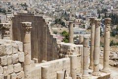 Runis da cidade de Jerash em Jordânia Imagem de Stock Royalty Free