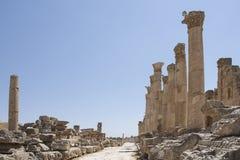 Runis da cidade de Jerash em Jordânia fotografia de stock royalty free