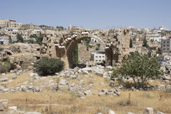Runis de Jerash em Jordânia imagem de stock royalty free