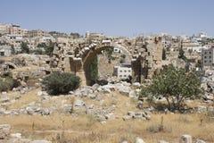 Runis di Jerash in Giordania immagine stock libera da diritti