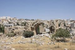 Runis Jerash στην Ιορδανία Στοκ Εικόνες