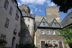 Runkel-Schloss, Deutschland Stockbild