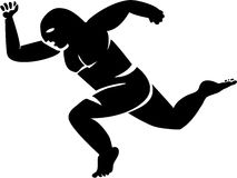 Runner. The mild distance, the starting runner, will to a victory, sports competitions vector illustration