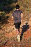 Runner. Moving through sunlit landscape Stock Photography