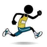 Runner. Cartoon sport action icon of a man running Stock Photo