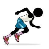 Runner. Silhouette-man sport icon - runner Stock Photo