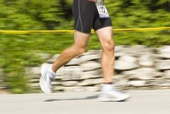 Runner 2. A triathlete competing in the annual Door County Triathlon. Summer 2007 Royalty Free Stock Photography
