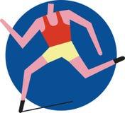 Runner. Icon of a runner, sprinter or track athlete Stock Photo