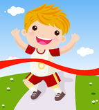 Runner. A cute runner ,Illustration art royalty free illustration