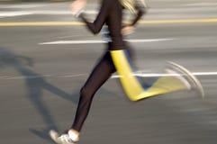 Runner. In black stock photos