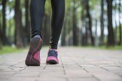 Runner athlete legs, training exercise outdoor jogger runner Royalty Free Stock Photo