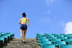 Runner athlete running on stairs Royalty Free Stock Photography