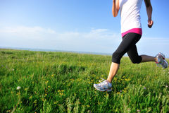 Runner athlete running Stock Photos