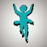 Runner avatar design. Illustration eps10 graphic Royalty Free Stock Image