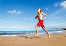 Runner on Beach Royalty Free Stock Image