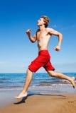 Runner on Beach Royalty Free Stock Photos