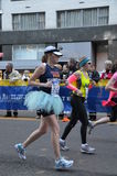 Runner in blue tutu Stock Image