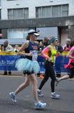 Runner in blue tutu Stock Image