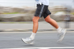 Runner, blurred motion Stock Images