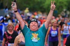 Runner celebrates Royalty Free Stock Image