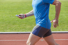 Runner checking fitness data Royalty Free Stock Photography