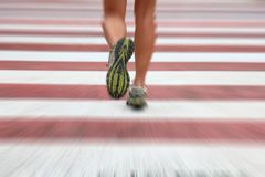 runner in city royalty free stock photo