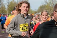 Runner Compete in Spring Half Marathon Stock Photos