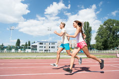 Runner on competition and future success. Stock Photography