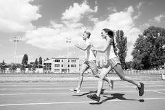 Runner on competition and future success. Stock Images