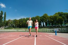 Runner on competition and future success. Royalty Free Stock Images