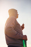 Runner Deep In Thought While Listening To Music. Royalty Free Stock Photo