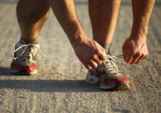 Runner detail Royalty Free Stock Photos